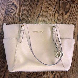 Michael Kors Large Saffiano Leather Jet Set Tote